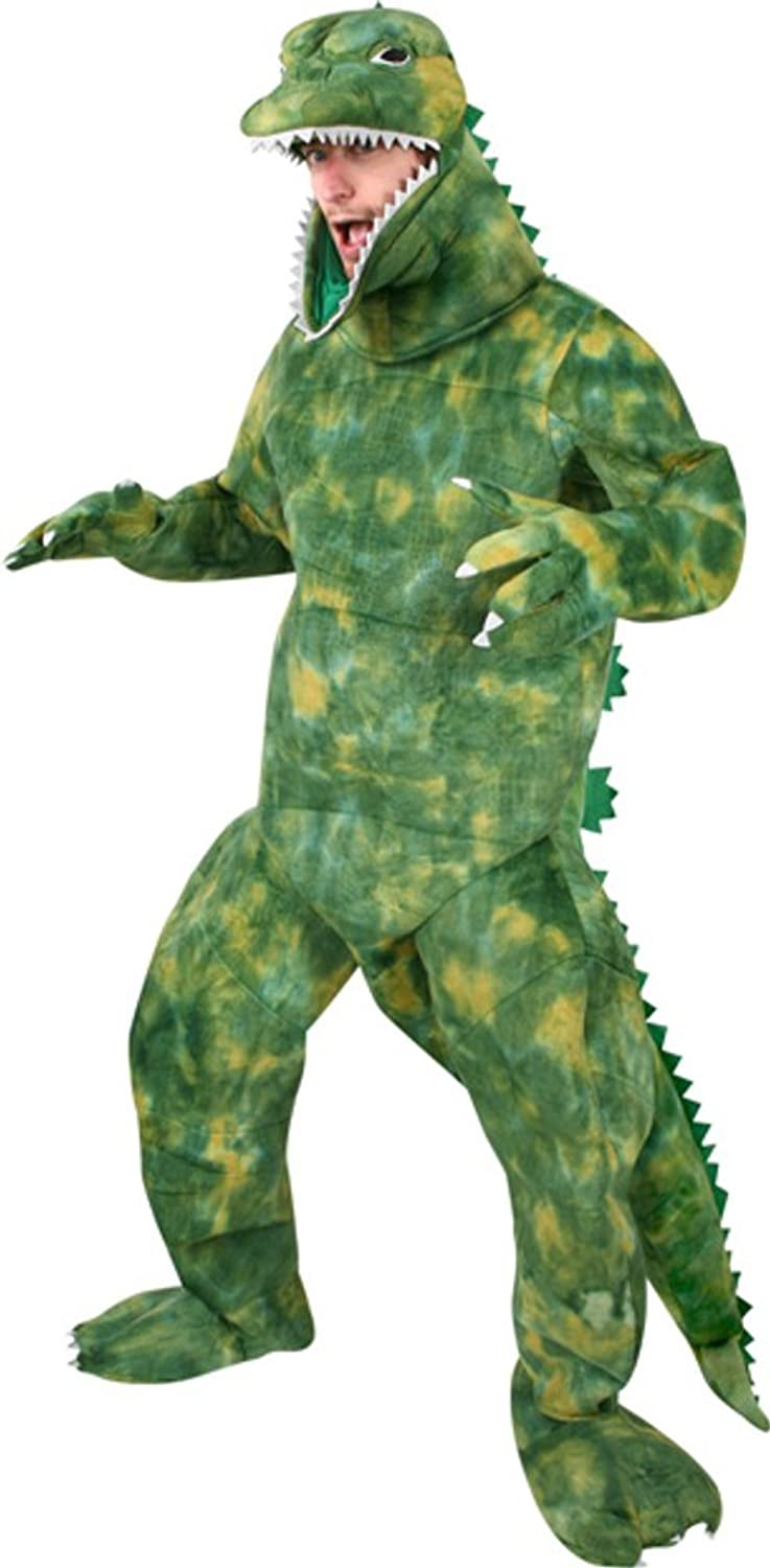 amazoncom adults godzilla halloween costume clothing - Green Halloween Dress