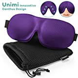 Unimi Sleep Mask for Woman and Man, Upgraded Contoured 3D Eye Mask Eye Cover, Comfortable Sleeping Mask No Pressure On Your Eyeballs, Create Total Darkness