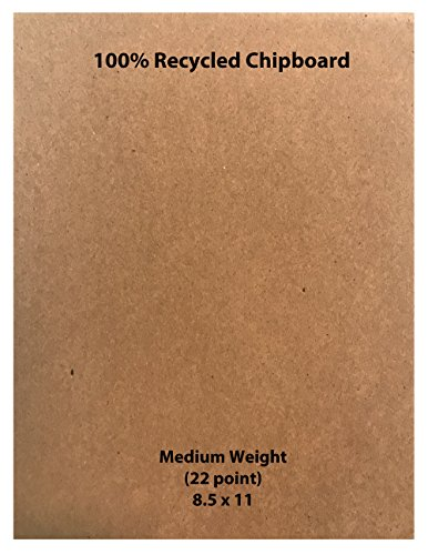 Medium Weight Chipboard - Brown, 8.5 x 11 - 25 per pack by Memory Cross