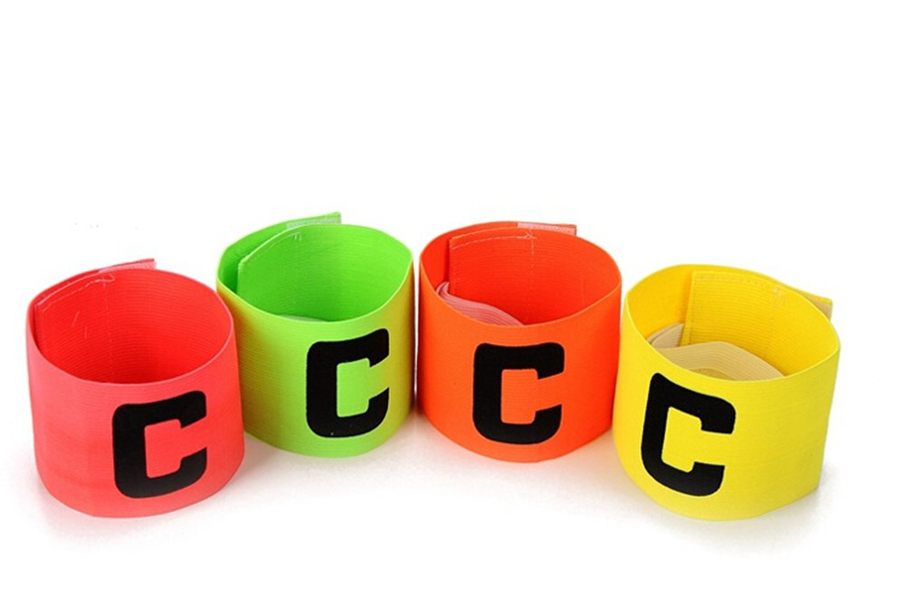 Color 4/Unidades f/útbol Brazalete ANAM Brazalete de Capit/án de F/útbol Anti-Drop para ni/ños y Adultos