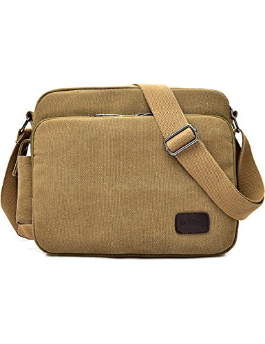 Beownwear Canvas Messenger Bag Vintage Classic Shoulder Bag Multifunctional Travel Satchel for All-Purpose Use