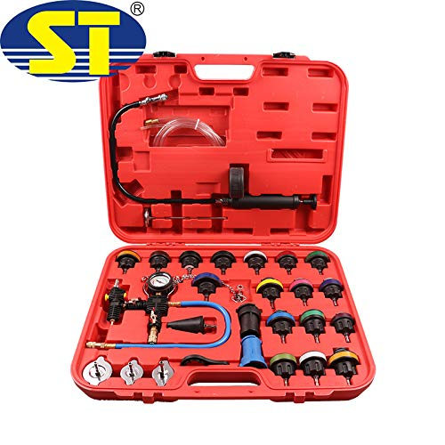 Special Tools 28-Piece Cooling System Tester Coolant Pump Tester Test Case Compressed Air Tool Car