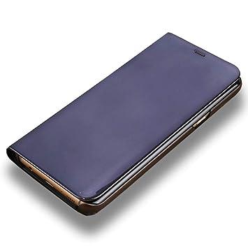 LAGUI Funda Adecuado para Huawei P Smart 2019, Clear View Carcasa Flip Inteligentes. Negro