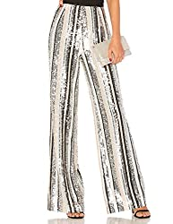 Sequin High Waisted Bell Bottom Flared Pants