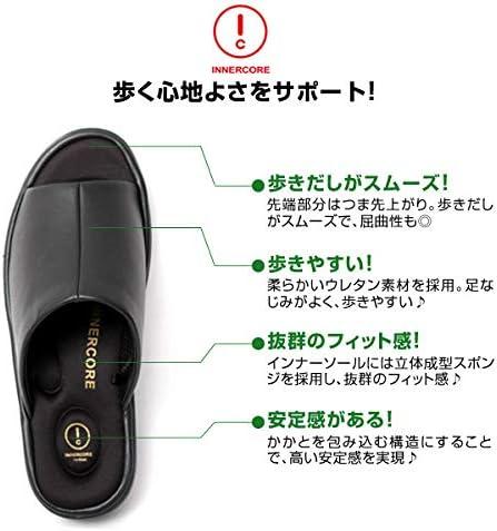サンダル オフィスサンダル ヒール4cm コンフォート メンズ オフィス 外履き [N2-29/N3-29]