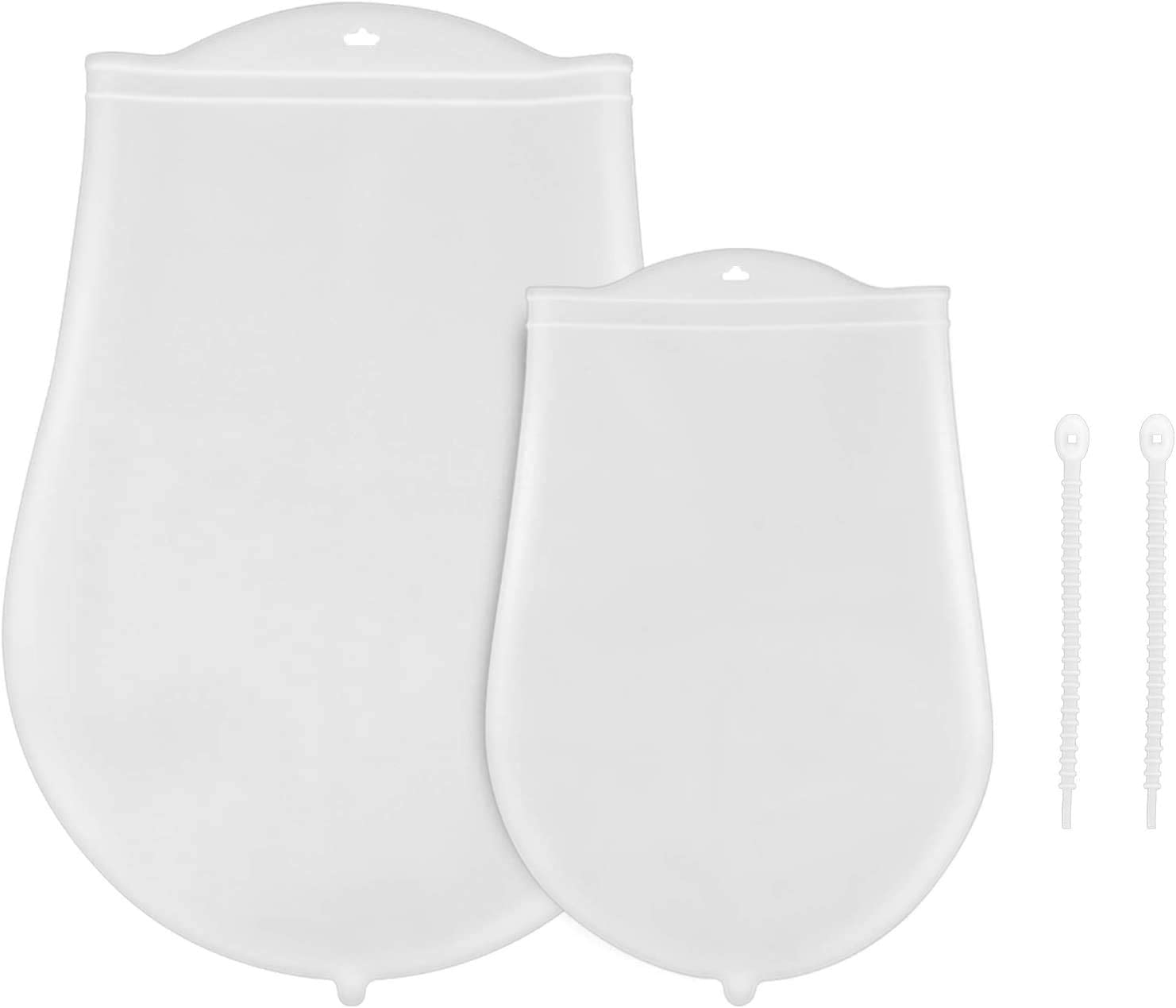 2 Packs Silicone Kneading Bag, Multifunctional Dough Mixer For Bread, Pastry And Pizza & Tortilla, Food Preservation Bag(large&small)