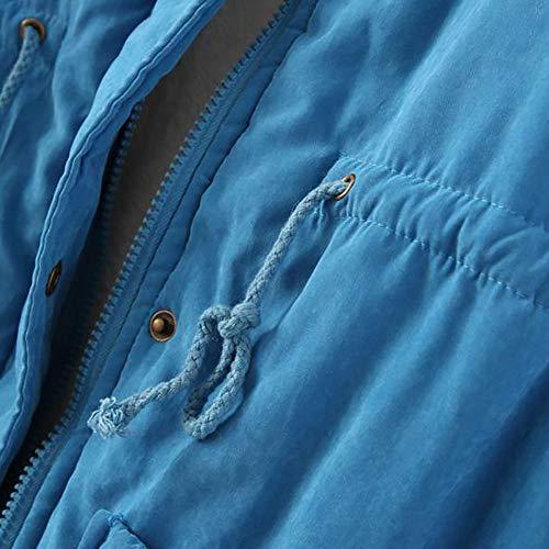 Prueba Abrigo Mujer 1pcs Cuello Piel Mei Viento Lakeblue Chaquetas De A 0qpdRwRT