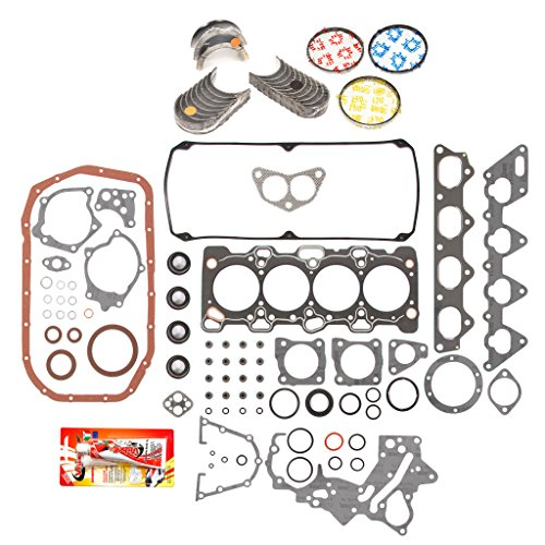 (Domestic Gaskets Engine Rering Kit FSBRR5022EVE\2\1\1 93-97 Eagle Mitsubishi Plymouth 2.4 SOHC 4G64 Full Gasket Set, 0.25mm / 0.010
