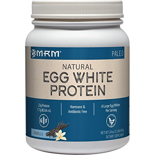 MRM all Natural Egg White Protein, Rich Vanilla 24 Ounce (Best Egg White Protein Powder)