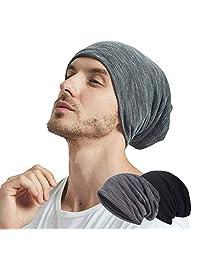 EINSKEY Summer Beanies Hat Thin Cotton Slouchy Spring Cap - 2 Pack