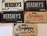 symphony candy bar - Hershey's GIANT Bar Variety Pack: Symphony, Cookies N Creme, Almonds, Milk Chocolate