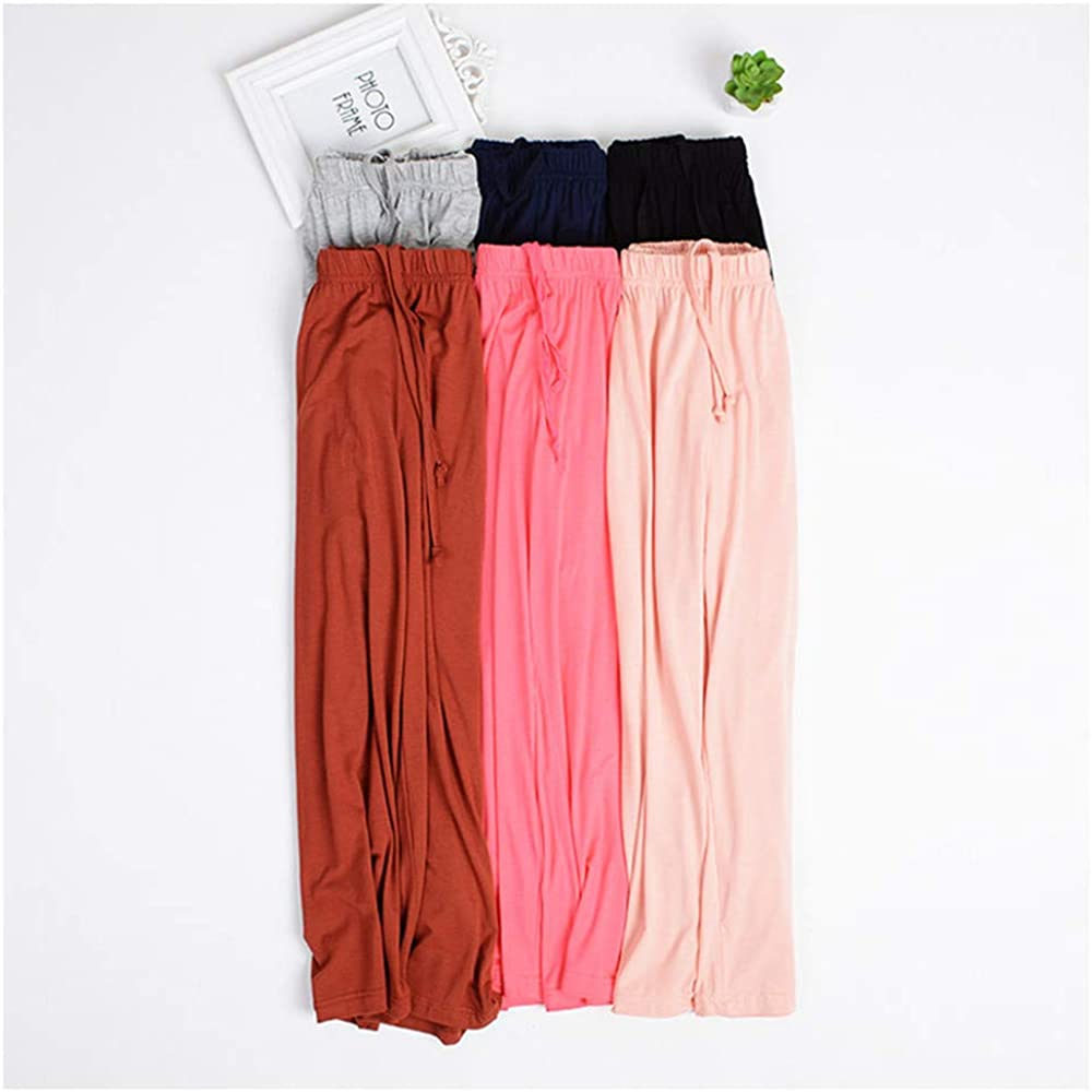 Nuosha-BABY Womens Pajama Capri Pants Soft Sleepwear Pants Lounge Bottoms with Pockets