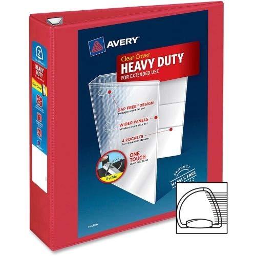 Avery Dennison Heavy-Duty View Binder W/Locking 1-Touch Ezd Rings, 2