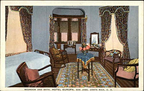 Bedroom and Bath, Hotel Europa San Jose, Costa Rica Original Vintage Postcard ()