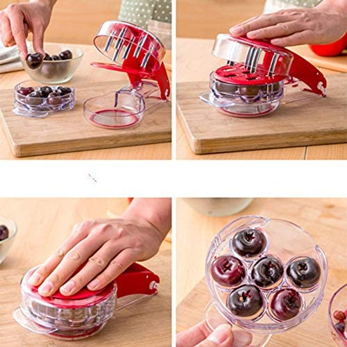 Adanse Cherry Pitter Cherry Stone Remover Seed Separator Remove Cherry Bones Fruit Corer Olive Pits Fruit Tools Gadgets