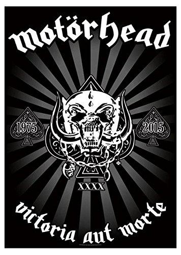 Motorhead Victoria Aut Morte Official Black Textile Flag Poster 105Cm X 65Cm