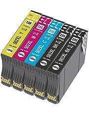 CAIDI 502XL Compatibel met Epson 502 502 XL-inktcartridges Multipack, voor Expression Home XP-5100 XP-5105, Workforce WF-2860 WF-2860DWF WF-2865 WF-2865DWF