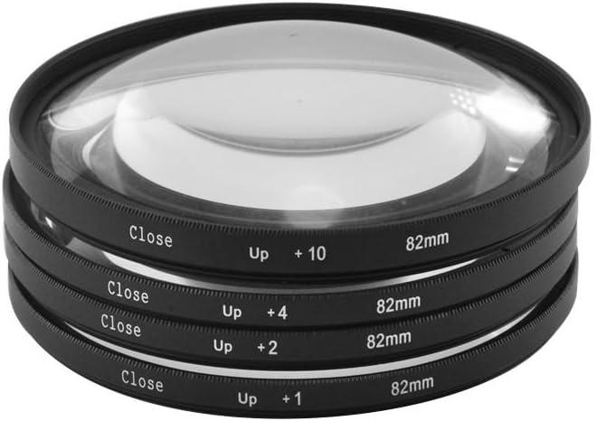 Lentes macro de acercamiento de 82 mm, juego de filtros de + 1, + 2, + 4, + 10 y funda para cámara Canon, Nikon y Sony: Amazon.es: Electrónica