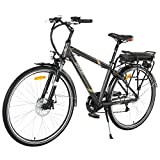 Image of Onway 6 Speed 700C Man City Electric Bicycle, 6061 Aluminium Alloy Frame, with Removable Lithium Battery