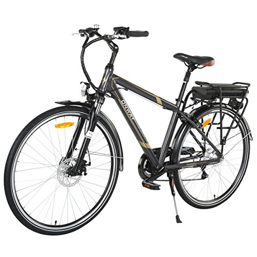Onway 6 Speed 700C Man City Electric Bicycle, 6061 Aluminium Alloy Frame, with Removable Lithium Battery Image