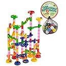 Mega Fun Marble Run 75 Piece Set plus 60 Marbles (Total 135 Pc Set)