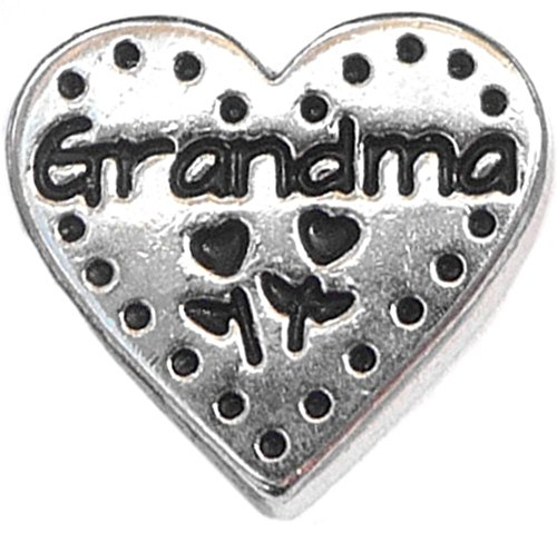 Grandma Stitch Heart Floating Locket Charm
