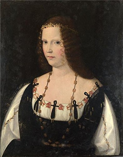 The Perfect Effect Canvas Of Oil Painting 'Bartolomeo Veneto-Portrait Of A Young Lady,1500-10' ,size: 30x38 Inch / 76x97 Cm ,this High Quality Art Decorative Prints On Canvas Is Fit For Foyer Decor And Home Gallery Art And Gifts - Wheels Begin To Turn Hall