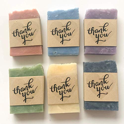 Thank You Soap Wedding Favors, Baby or Bridal Shower Vegan Party Favors 12 Pack