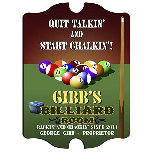 Personalized Vintage Pub Sign - Billiards