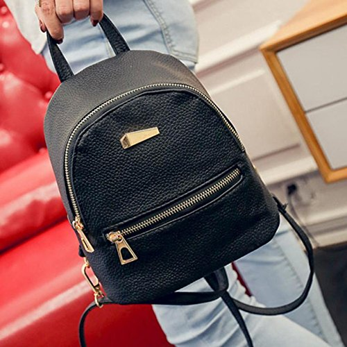 Pu Leather Women Backpacks School Bag Student Backpack Ladies Women Bags Leather Package Female Mochila Escolar (Hurley Canvas Backpack)