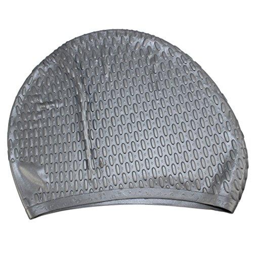 Unisex Long Hair Waterproof Swimming Caps(Grey) - 6