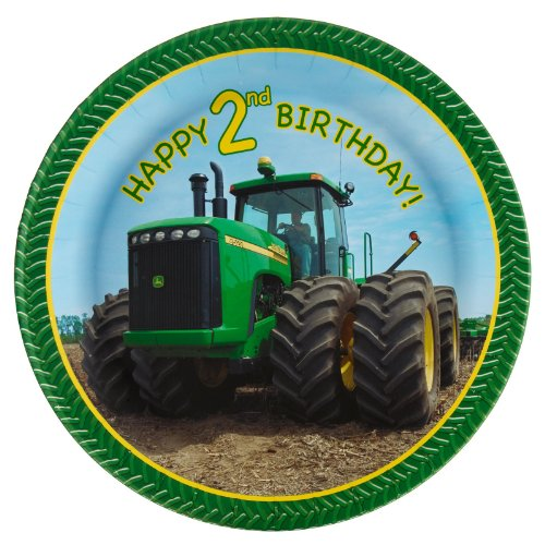 John Deere 2nd Birthday Dinner Plates (8 count) Party Accessory, Health Care Stuffs