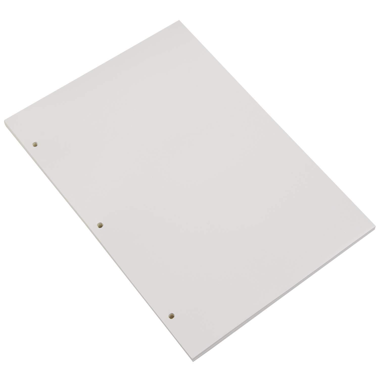 140 Pagine per A4 Taccuino Diario Album per Schizzi VEESUN A4 3 Fori Ricarica Carta Bianco 70 Fogli