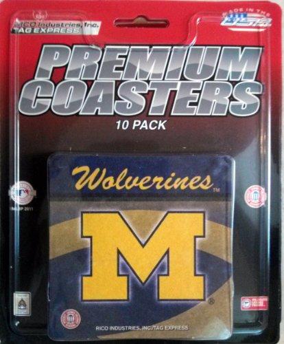 Royals Coaster Set (Michigan Wolverines 10-pack Premium Beverage Coasters Set University Of)