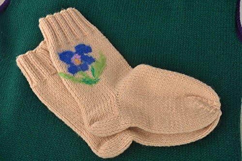 Calcetines tejidos hechos a mano accesorios de mujer bonitos regalo original