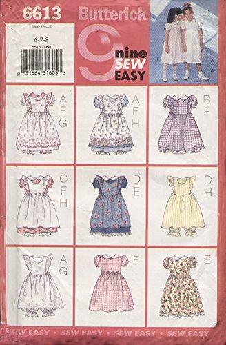 - Butterick 6613 Childrens/Girls Pinafore Dress & Pantaloons 2,3,4,5