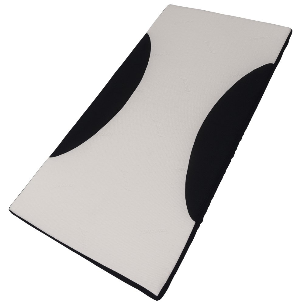 マットレス 体圧分散 キューブマットレス 腰痛対策 メッシュ素材で熱がこもりにくい ホワイトネイビー 幅95×奥行197×厚さ5cm 42080 B0787G1YNK