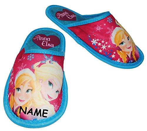 Superweich Schuhe Slipper Hausschuhe mit Schuh Gr Pantoffel Pantoffeln FROZEN Kinder für Profilsohle Disney 30 rutschfeste Eiskönigin Plüsch völlig Mädchen die Hausschuh T8qUwqcd
