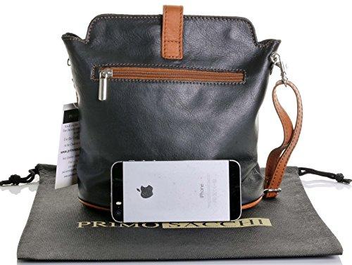 Adjustable Cross Strap Italian or Body Hand Made Black Tan Shoulder Sacchi Bag amp; Handbag Leather Primo qYx0nwTXU5