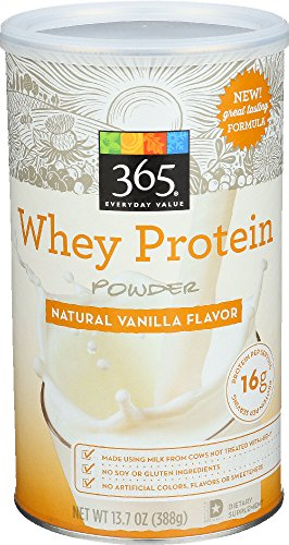 365 Everyday Value, Whey Protein Powder, Natural Vanilla Flavor, 13.7 oz 51sCgBUXR7L