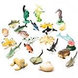 Now you can bring the aquarium to life with our mini sea creature toys. These sea animals are a great educational item, fun for counting, colorful party favors, awesome Easter egg fillers and great for sensory tables! with 90 pieces of assort...