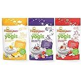 Happy Baby Organic Yogis Freeze-Dried Yogurt & Fruit Snacks, 3 Flavor Variety Pack,1 Ounce