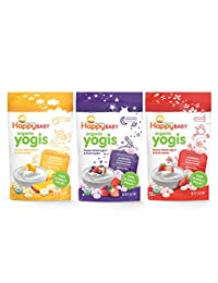 Happy Baby Organic Yogis Freeze-Dried Yogurt & Fruit Snacks, 3 Flavor Variety Pack,1 Ounce BOBEBE Online Baby Store From New York to Miami and Los Angeles