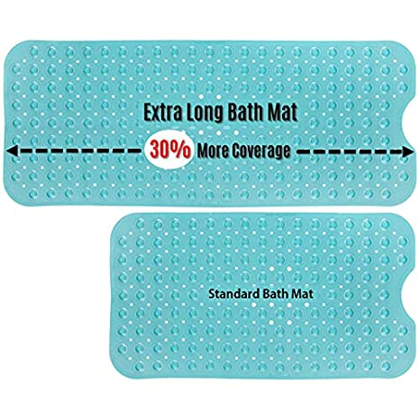 30/% Longer Than Standard Mats! SlipX Solutions Aqua Extra Long Bath Mat Adds Non-Slip Traction to Tubs /& Showers Extended Coverage Venturi 39 Long 200 Suction Cups, 39 Long - Extended Coverage, Machine Washable