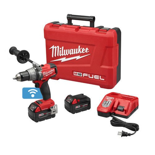 Milwaukee 2706-22 M18 FUEL with ONE KEY 18-Volt Lithium-Ion Brushless 1/2 in. Cordless Hammer Drill/Driver Kit