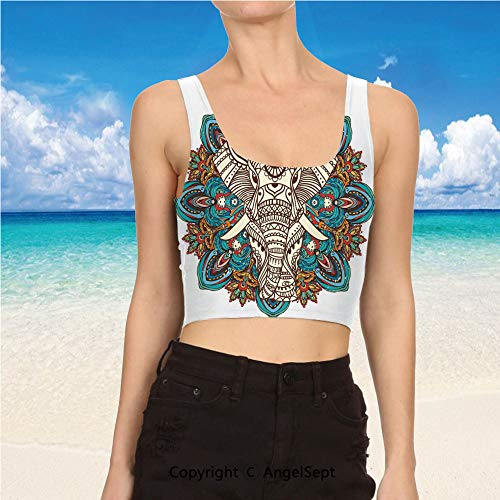 Tank Tops for Women, Clothes M,Multicolor Spirit Animal Guardian of s