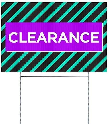 CGSignLab 5-Pack Clearance 27x18 Modern Block Double-Sided Weather-Resistant Yard Sign