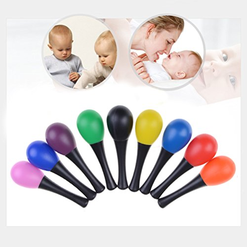 Xiangfeng 9 PCS Maracas Egg Shaker Kids Percussion Instrument Musical Toy Assorted Colors