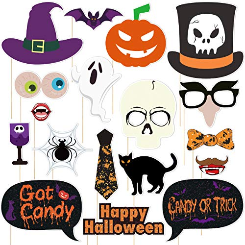 Halloween Photobooth Props - Amosfun 18PCS Halloween Photo Booth Props