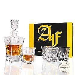Yorkville 5-Piece Crystal Glasses (1 Carafe + 4 Glasses) Set